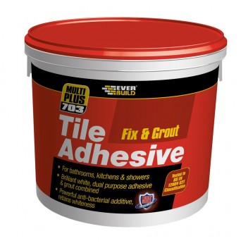 Image for Everbuild Fix & Grout Tile Adhesive 3.75kg