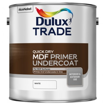 Image for Dulux Trade Quick Dry MDF Primer Undercoat White 2.5L